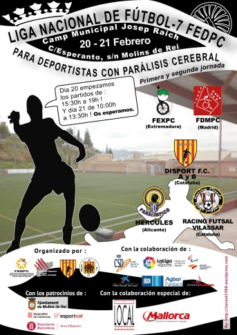 Cartel de liga nacional de fútbol 7